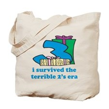 Three: I Survived The Terrible Two's Tote Bag