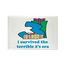 Three: I Survived The Terrible Two's Rectangle Mag