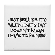 Mean Valentine Tile Coaster