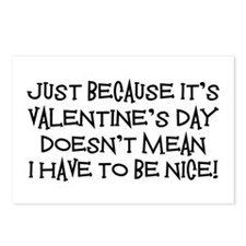 Mean Valentine Postcards (Package of 8)