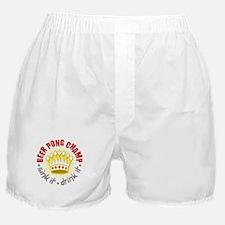 Beer Pong Champ Boxer Shorts