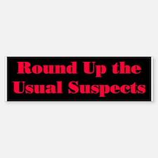 Usual Suspects 1 Bumper Bumper Bumper Sticker