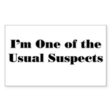Usual Suspects 2 Rectangle Decal