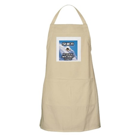 """""""Skier Playing Biologist Today"""" BBQ Apron"""