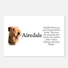 Airedale Profile Postcards (Package of 8)