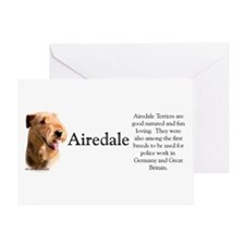 Airedale Profile Greeting Card