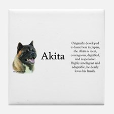 Akita Profile Tile Coaster