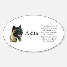 Akita Profile Oval Decal