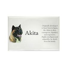 Akita Profile Rectangle Magnet (10 pack)
