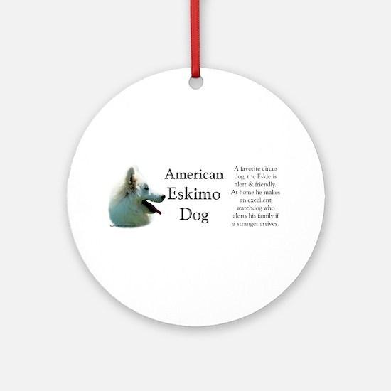 Eskimo Profile Ornament (Round)