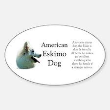 Eskimo Profile Oval Decal