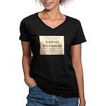 Chicken Ranch Brothel Women's V-Neck Dark T-Shirt
