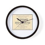 Chicken Ranch Brothel Wall Clock