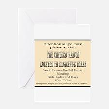 Chicken Ranch Brothel Greeting Card