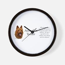 Aussie Terrier Profile Wall Clock