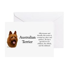 Aussie Terrier Profile Greeting Card
