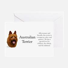 Aussie Terrier Profile Greeting Card