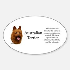 Aussie Terrier Profile Oval Decal