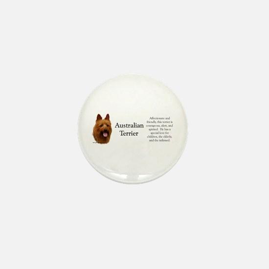 Aussie Terrier Profile Mini Button