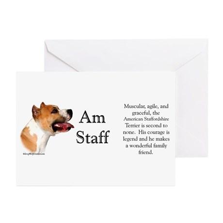 AmStaff Profile Greeting Cards (Pk of 10)