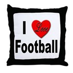 I Love Football for Football Lovers Throw Pillow