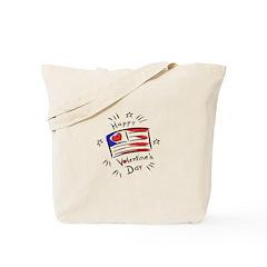 Patriotic Valentine Flag Tote Bag