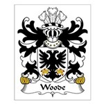 Woode Family Crest Small Poster