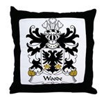 Woode Family Crest Throw Pillow
