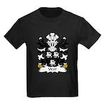 Wolf Family Crest Kids Dark T-Shirt