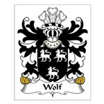 Wolf Family Crest Small Poster