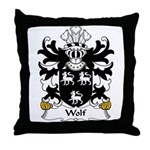Wolf Family Crest Throw Pillow