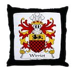 Wirriot Family Crest Throw Pillow