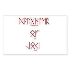 Daughter Of Loki Rectangle Bumper Stickers