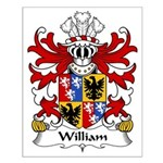 William Family Crest Small Poster