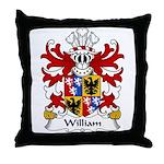 William Family Crest Throw Pillow