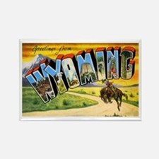 Wyoming Greetings Rectangle Magnet