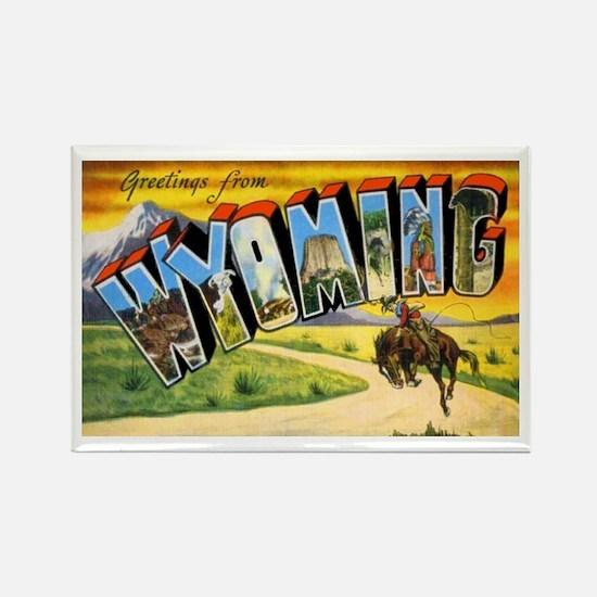 Wyoming Greetings Rectangle Magnet