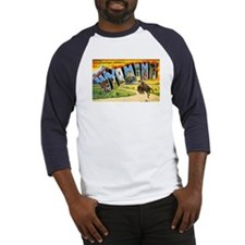 Wyoming Greetings (Front) Baseball Jersey