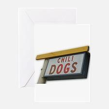 Unique Chili dog Greeting Card