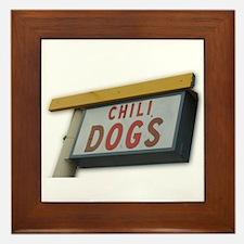 Cute Chili dog Framed Tile