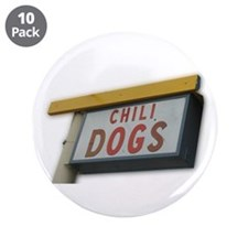 """Unique Chili dog 3.5"""" Button (10 pack)"""