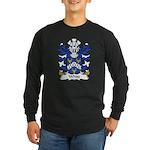 White Family Crest Long Sleeve Dark T-Shirt
