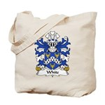 White Family Crest Tote Bag