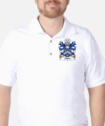 White Family Crest Golf Shirt