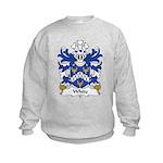 White Family Crest Kids Sweatshirt
