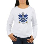 White Family Crest Women's Long Sleeve T-Shirt