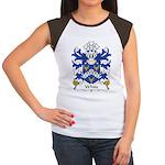 White Family Crest Women's Cap Sleeve T-Shirt