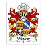 Weaver Family Crest Small Poster