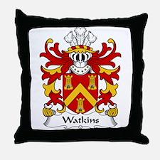 Watkins Family Crest  Throw Pillow