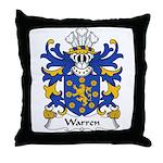 Warren Family Crest Throw Pillow